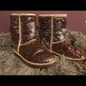Copper Sequin Used Ugg Boots